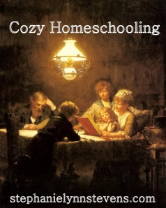 cozy homeschooling graphic